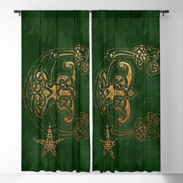 Hunter and Gold Celtic Blackout Curtain