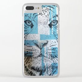 Tiger of Life Clear iPhone Case