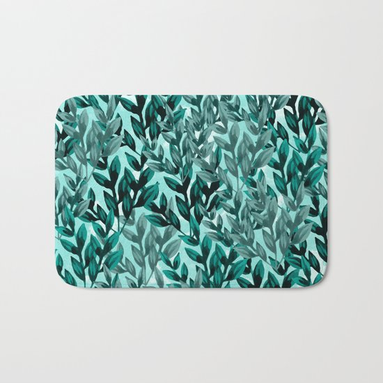 Leaf pattern II Bath Mat