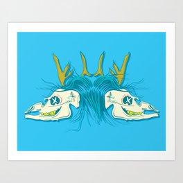 Dead Deer.  Art Print