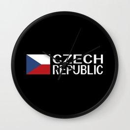 Czech Republic: Czech Flag & Czech Republic Wall Clock