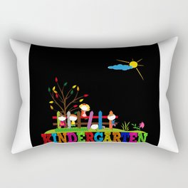 Kindergarten Picture Gift Idea Design Motif Rectangular Pillow