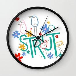 STRUT Spot Word Wall Clock