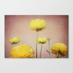 Daydreaming in Yellow Canvas Print