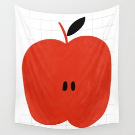 Simple apple fruit Wall Tapestry