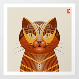 The Geocat Art Print