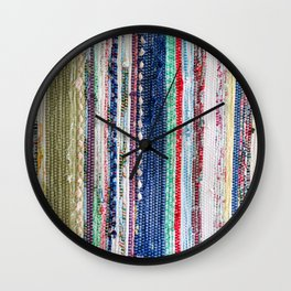 Scrap fabric weave Wall Clock