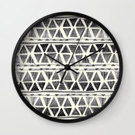 Tribal Geometric Chevron Stripes Wall Clock
