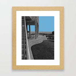Curved Wall Framed Art Print