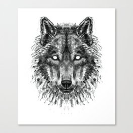 Wolf / Forest guardian Canvas Print