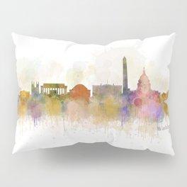 Washington City Skyline Pillow Sham