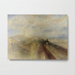 "J. M. W. Turner ""Rain, Steam and Speed – The Great Western Railway"" Metal Print"