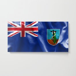 Montserrat Flag Metal Print