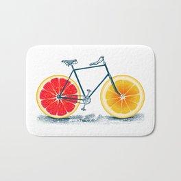 Vintage Orange Old Bike with Retro Cycle Frame Bath Mat