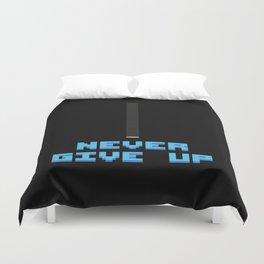 Never Give Up - Mega Man Duvet Cover