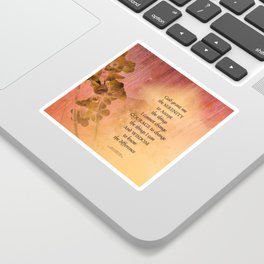 Serenity Prayer Quince and Fence One Sticker