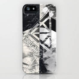 Transcience In Monochrome iPhone Case