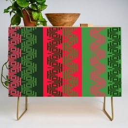 COOL BLACK RED GREEN Credenza