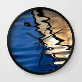 Blue white abstract Wall Clock