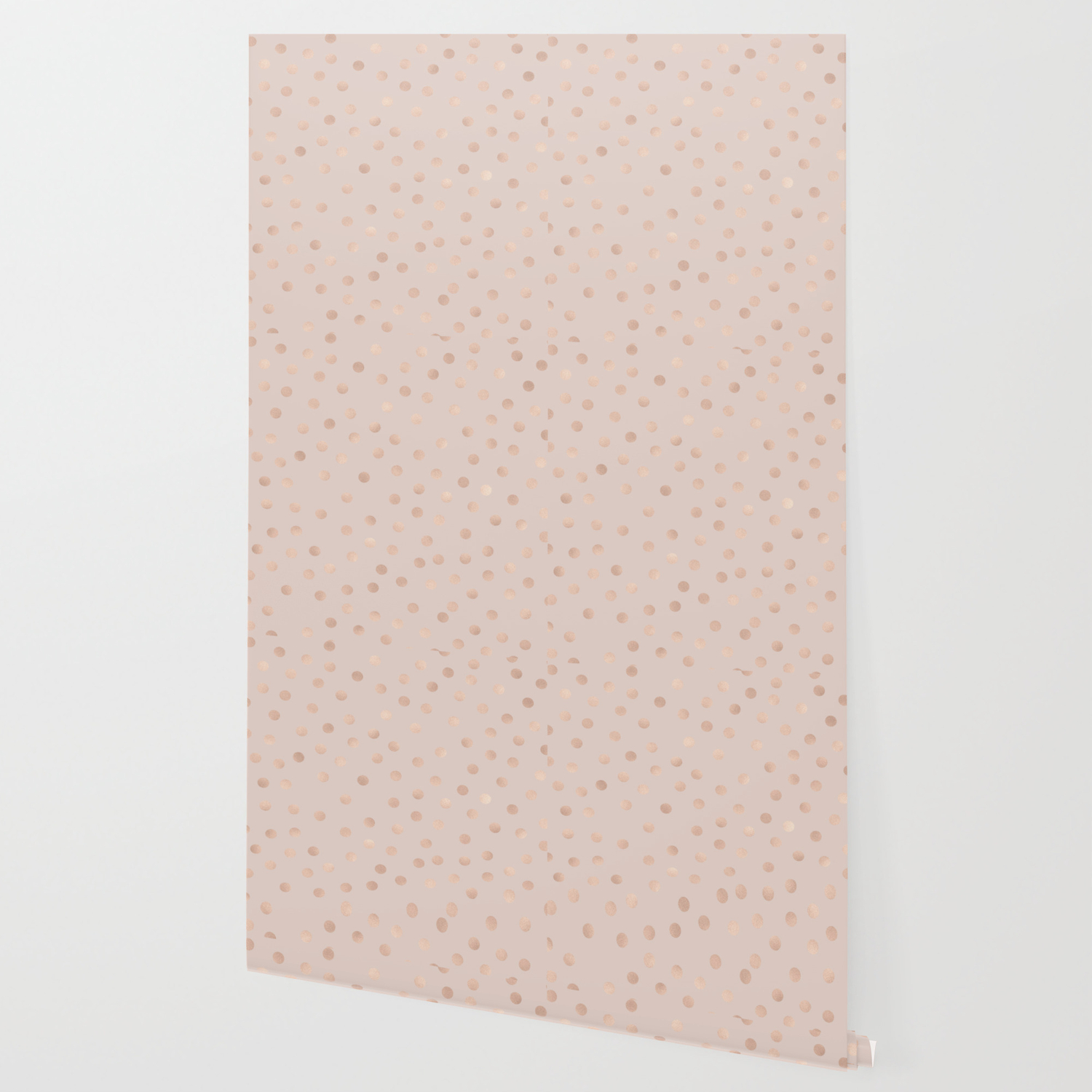 Rose Gold Polka Dots Tropical Bronze Wallpaper