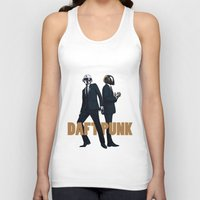 daft punk Tank Tops featuring Daft Punk by joshuahillustration