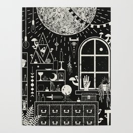 Moon Altar Poster