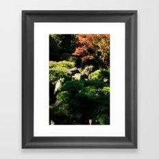 Japanese Tea Garden Waterfall Framed Art Print