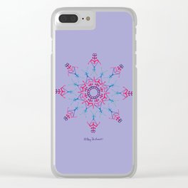 Breathe In & Out Mandala - Lavender Clear iPhone Case