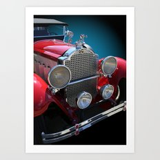Vintage Antique Red Touring Car Art Print