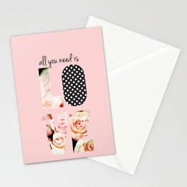 Love in Blush Stationery Cards