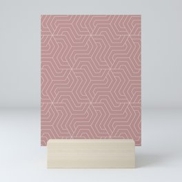 Rosy brown - violet - Modern Vector Seamless Pattern Mini Art Print
