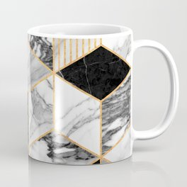 Marble Cubes 2 - Black and White Coffee Mug