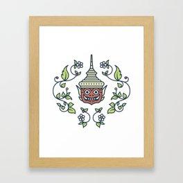 Khon Cultural Mask - Thailand Framed Art Print