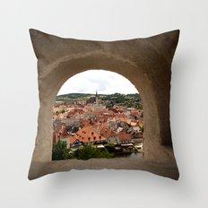 Cesky Krumlov Throw Pillow