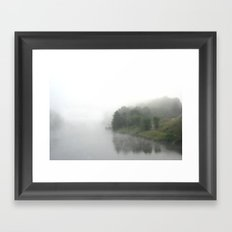 The cONNECTICUTE RIVER EARLY IN THE MORNING Framed Art Print