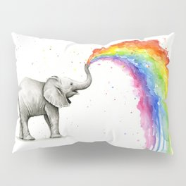Rainbow Baby Elephant Pillow Sham