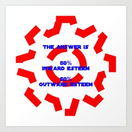 The answer Art Print