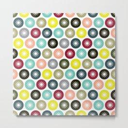 Geometric Pattern 243 (colorful stars) Metal Print
