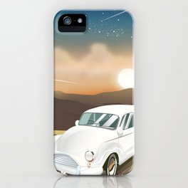 Vintage Car in the sunset. iPhone Case