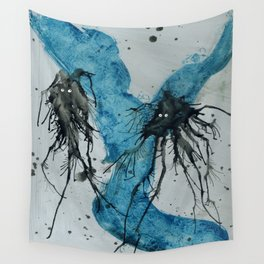 Ink monster- pair Wall Tapestry