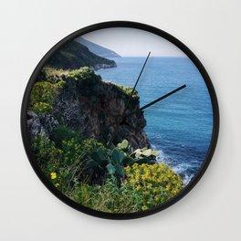 coast of sicily Wall Clock