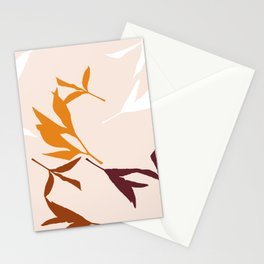 Peony Leaf Silhouettes Stationery Cards
