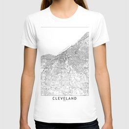 Cleveland White Map T-shirt