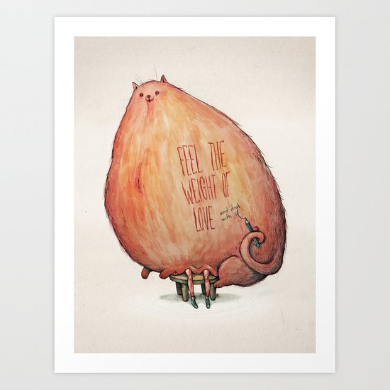 The Weight of Love Art Print