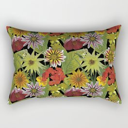 Midnight garden floral patern Rectangular Pillow