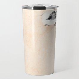 Cotton Flower on rice paper Travel Mug