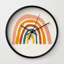 Rainbow, Mid century modern kids wall art, Nursery room Wall Clock