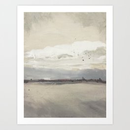 Into the Gray of the Day Art Print