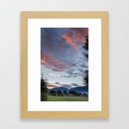 """""""Le ciel en feu"""" Framed Art Print"""