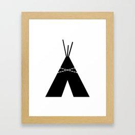 Black & White Teepee Framed Art Print